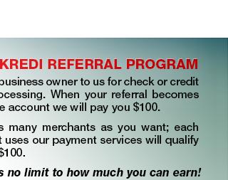Checkredi Referral Program Information