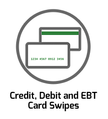 Credit, Debit and EBT Card Swipes
